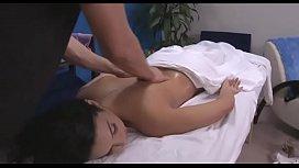 All natural teen screwed hard by her massagist