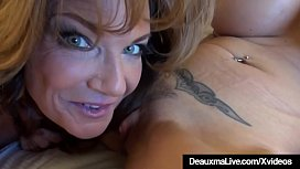 Hot Mature Cougars Deauxma &amp_ Brooke Tyler Fuck Double Dildo!