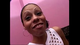 Black whore Brittany hairy cunt shaved then stud fucks her &amp_ cums on her