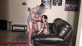 Throat Fuck Slave Lua ROUGHLY Abused By Daddy