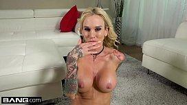 Real MILFs - MILF Sarah Jessie gets cum on her big tits