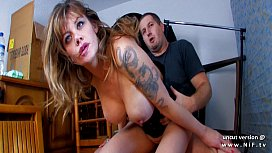 Naughty big boobed amateur french mom sodomized and jizzed
