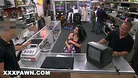 XXX PAWN - Feisty Cuban Chick &quot_Estefania&quot_ Gets Her TV Broken And She Is Pissed