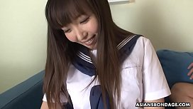Haruka Osawa is one very naughty schoolgirl, who likes cocks