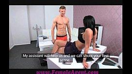 FemaleAgent Double cumshot surprise for MILF