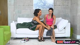 Hot teen licked by her friends mom to get over her boyfriend