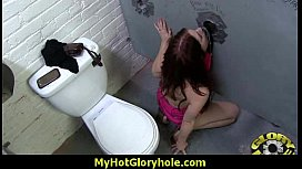 Horny Lady Enjoys Gloryhole Cocksucking Interracial 23