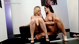 Horny naked lesbos rubbing each others twats