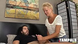 Swinging Blonde Gives a Handjob