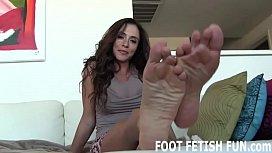 I will make your dick diamond hard with my feet