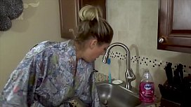Mom'_s Hand Gets Stuck in Sink &amp_ Son Molests Her - Forced Sex, POV, MILF - Nikki Brooks