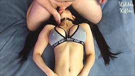 Throat Fucking My Girlfriend and Cumming In Her Mouth