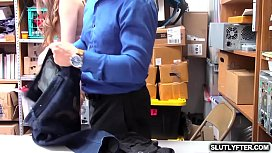 White adolescent shoplyfter Tali Dova fuck doggystyle by the LP Officer!