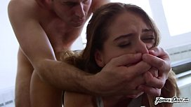 SARA LUVV EXTREME PASSIONATE ROUGH FUCK, CUMMING ON COCK MULTIPLE TIMES AND CUM SWALLOW - Featuring: Sara Luvv / James Deen