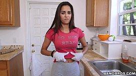 Latina maid has a great body