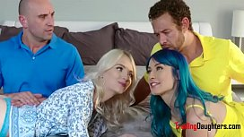 DADS and DAUGHTER get together- Niki Snow and Zoey Monroe