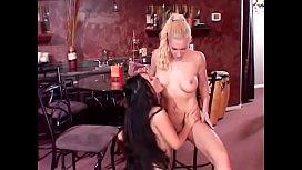 Petite Asian Jessica Bangkok gets fucked hard by blonde slut Heidi Mayne doggy style on a chair