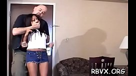 Slut can'_t move while a man stimulates her pussy with vibrator