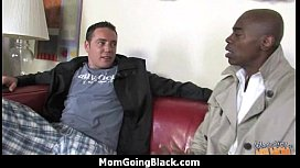 Mature MILF takes on big black cock 14