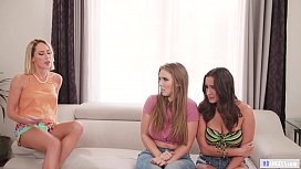 Pledge master wants some fresh pussies! - Carter Cruise, Ashley Adams and Lena Paul
