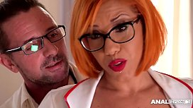 Anal inspectors can'_t wait to watch hot Milf Rose Valerie double penetrated