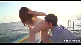 Two Horny Babes Seduces and Plays with the Young Man in a Boat