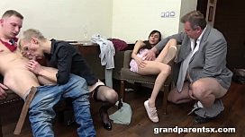 Old vs Young After Party Orgy