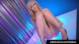 World Class Stripping Milf Julia Ann Rubs Her Perfect Pussy!