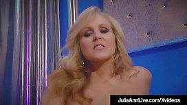 World Class Stripping Milf Julia Ann Rubs Her Perfect Pussy!
