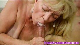 cum mouth granny compilation