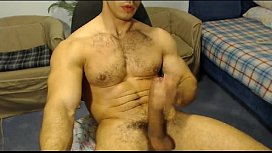 Hung muscular hunk with an amazing cock