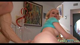 Husband and wife fuck the babysitter 112