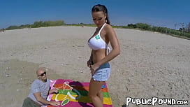 Oily Patty Michova banging in dirt after blowjob