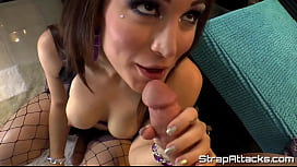 Pegging femdom fucked after cocksucking