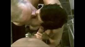 Cuckold Couple Share Sucking Duties on Big White Cock