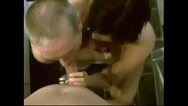 Cuckold Couple Share Sucking Duties on Big White Cock