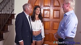 Lucky Pensioners Fuck Hot Mexican Teen'_s Pink Taco