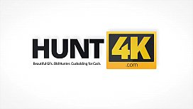 HUNT4K. Couple is in need of cash for motel so why girl gets naked