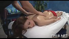 Angel blowing her massage therapist during massage