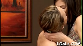 Look at two ardent cuties having great lesbian fuck