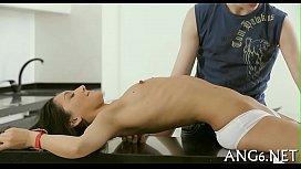 Tits seduction for slutty guy