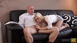 DADDY4K. Teen Candee Licious copulates with boyfriend'_s handsome dad