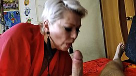 God knows I love this bitch! But how can you not love her? Sweet mature bitch AimeeParadise passionately sucks dick to her husband ... He also does not remain in debt))