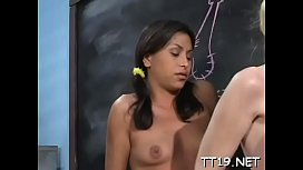 Stupendous Dalny Marga with huge natural tits feels love rocket in honey pot