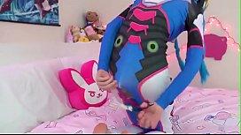 Blue Hair Cam Girl From SextingBang.com