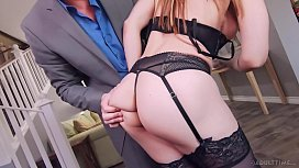 Dirty Cheater Husband Shamed &amp_ Cucked by Wife and His BOSS - FULL SCENE