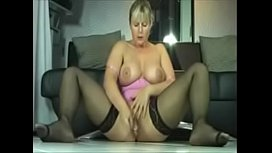 Busty mom squirts on the floor.   See full video at realmatures.xyz