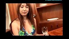 Hot Asian Girl Drinking Cum