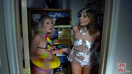 GIRLS GONE WILD - Lesbians Having Fun During A Crazy Costume Party