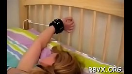 Robust tattooed floozy gets ball gagged and bounded constricted